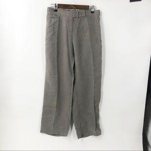 Eileen Fisher Linen Wide Leg Pants Petite Large
